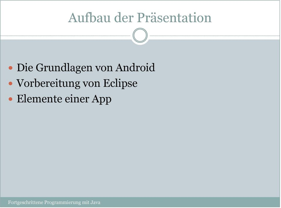 Android Vorbereitung