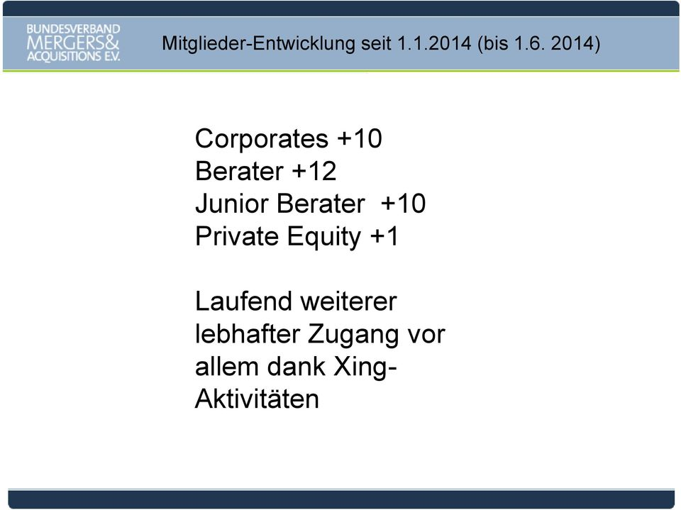 Berater +10 Private Equity +1 Laufend
