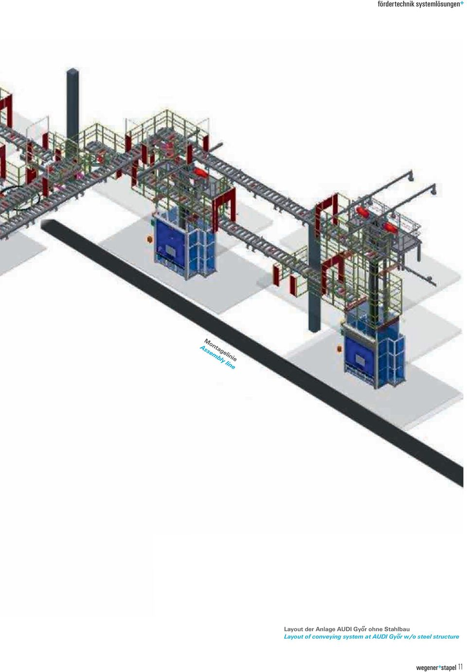 of conveying system at