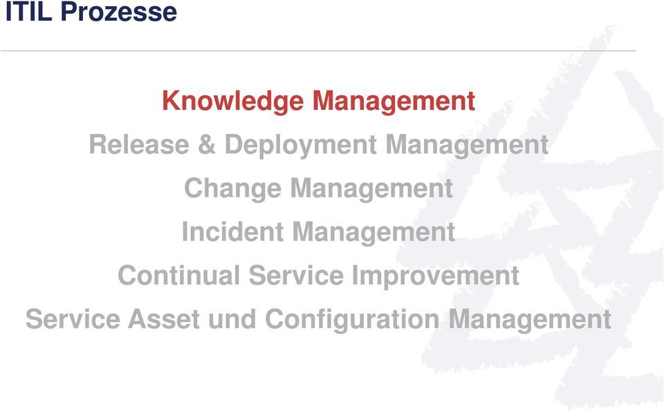 Incident Management Continual Service