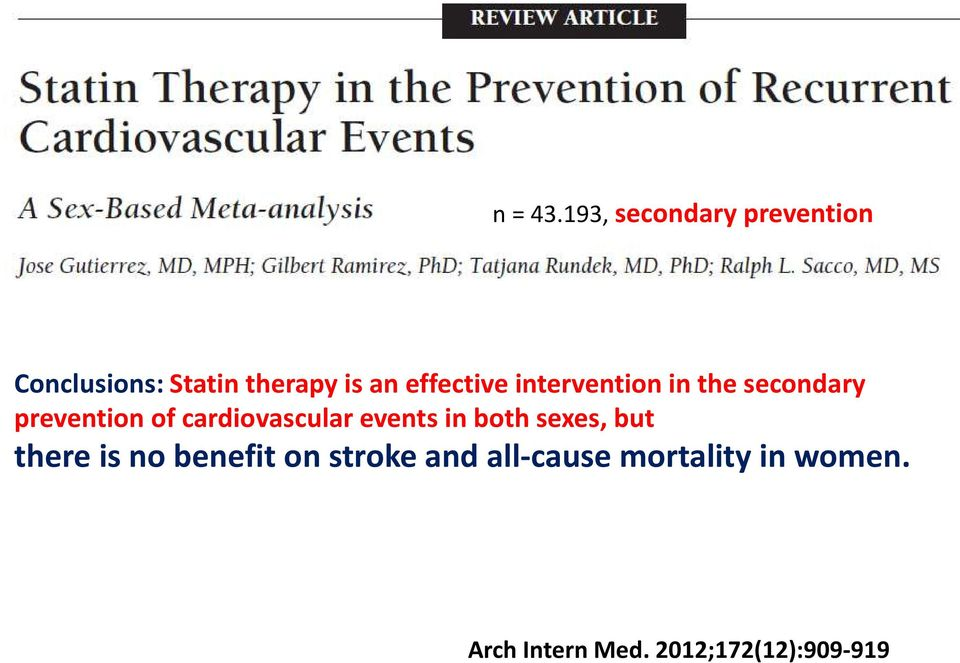 effective intervention in the secondary prevention of