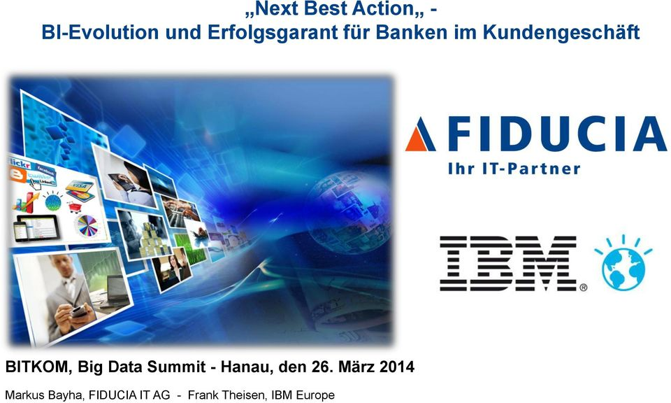 BITKOM, Big Data Summit - Hanau, den 26.