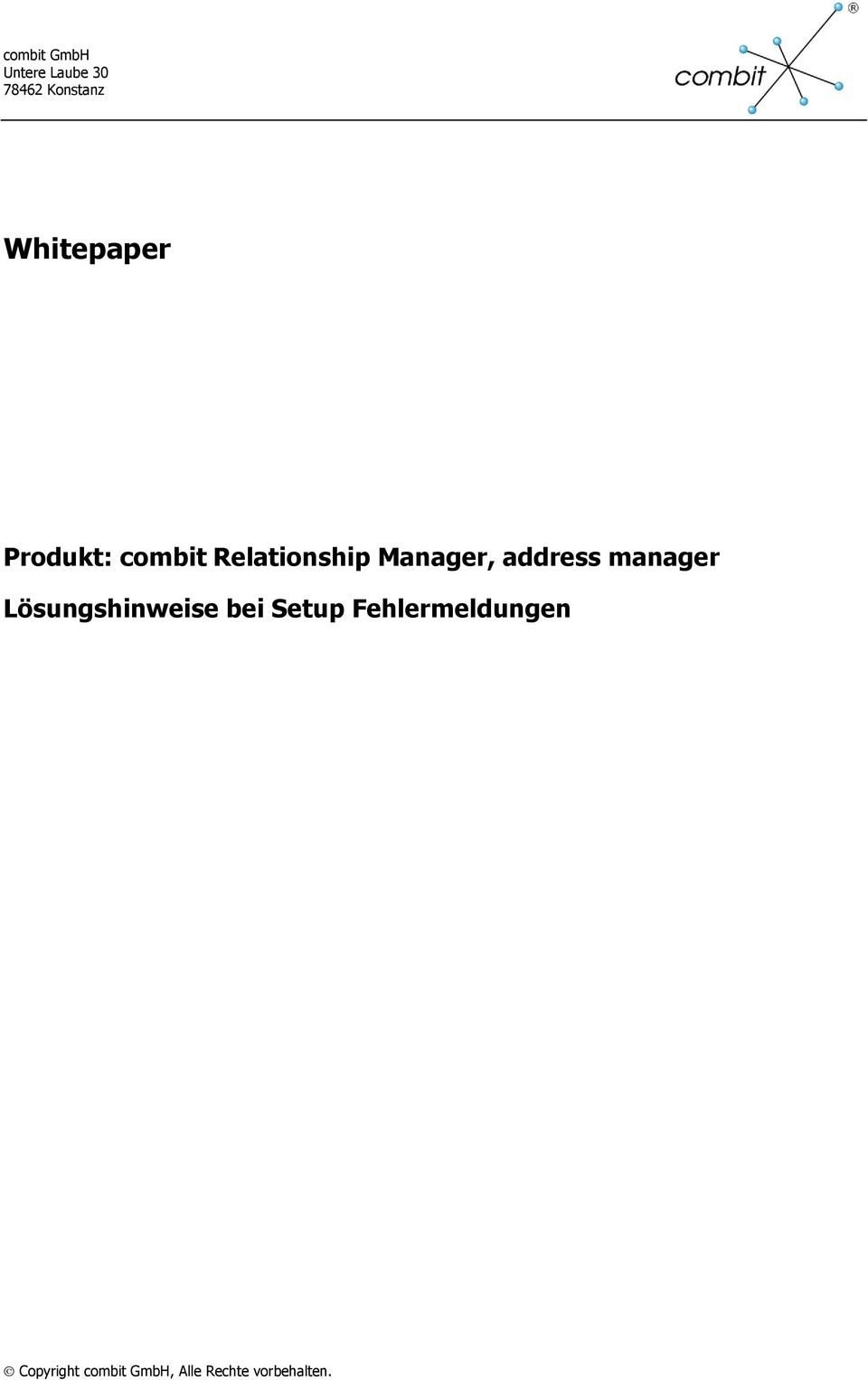 combit Relationship Manager,