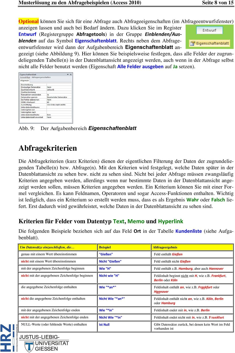 Microsoft Access 2010 Abfragen (inkl. Musterlösung) - PDF