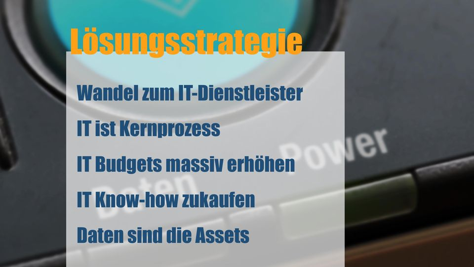 Kernprozess IT Budgets massiv
