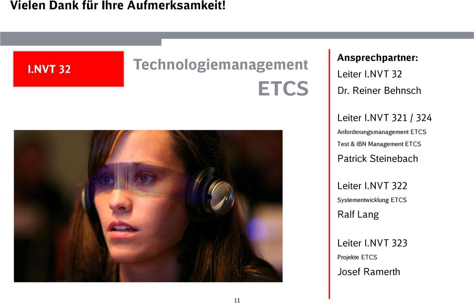 NVT 321 / 324 Anforderungsmanagement ETCS Test & IBN Management ETCS Patrick
