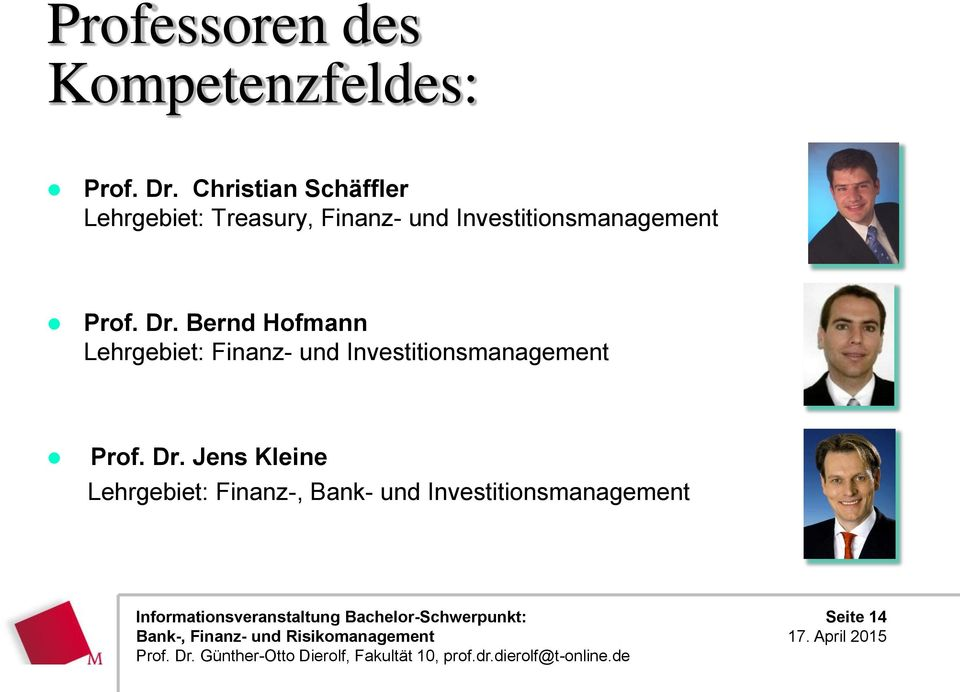 Investitionsmanagement Prof. Dr.