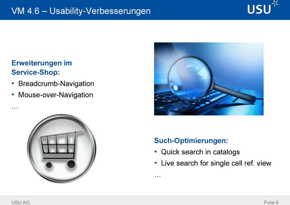 Mouse-over-Navigation Such-Optimierungen: Quick