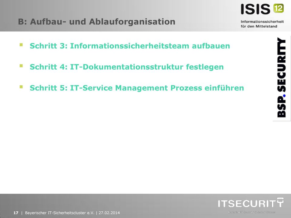 IT-Dokumentationsstruktur festlegen Schritt 5: IT-Service