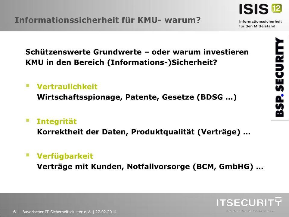 (Informations-)Sicherheit?