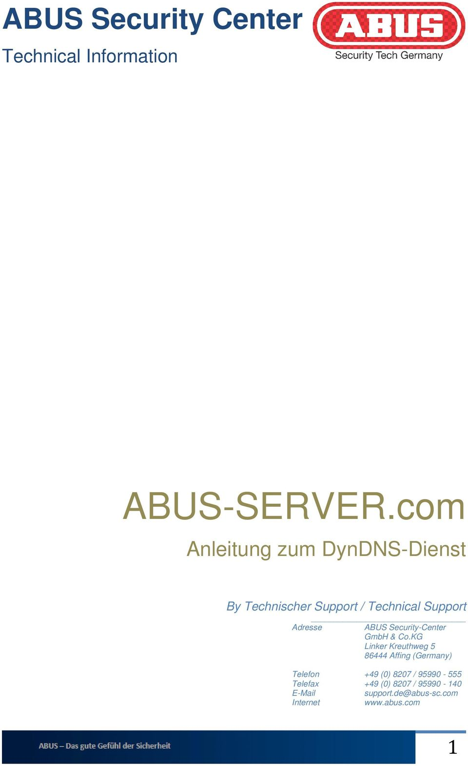 ABUS Security-Center GmbH & Co.