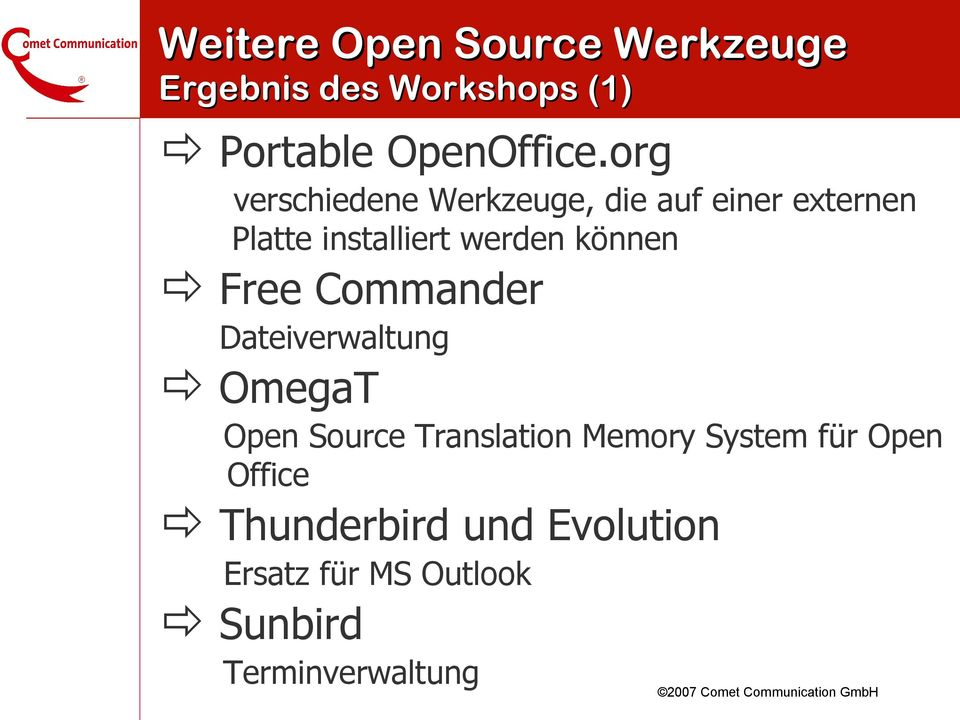 können Free Commander Dateiverwaltung OmegaT Open Source Translation Memory