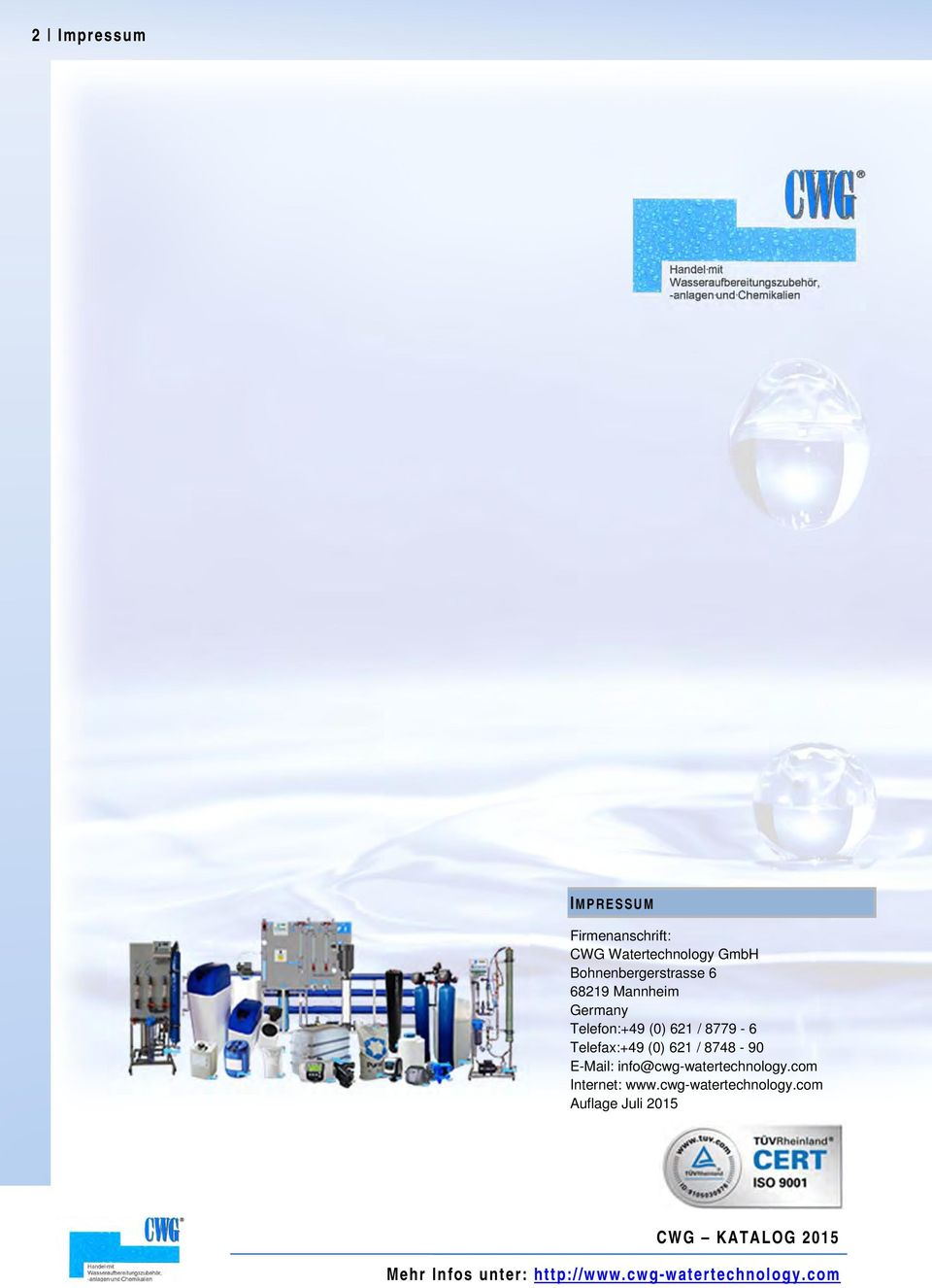8748-90 E-Mail: info@cwg-watertechnology.