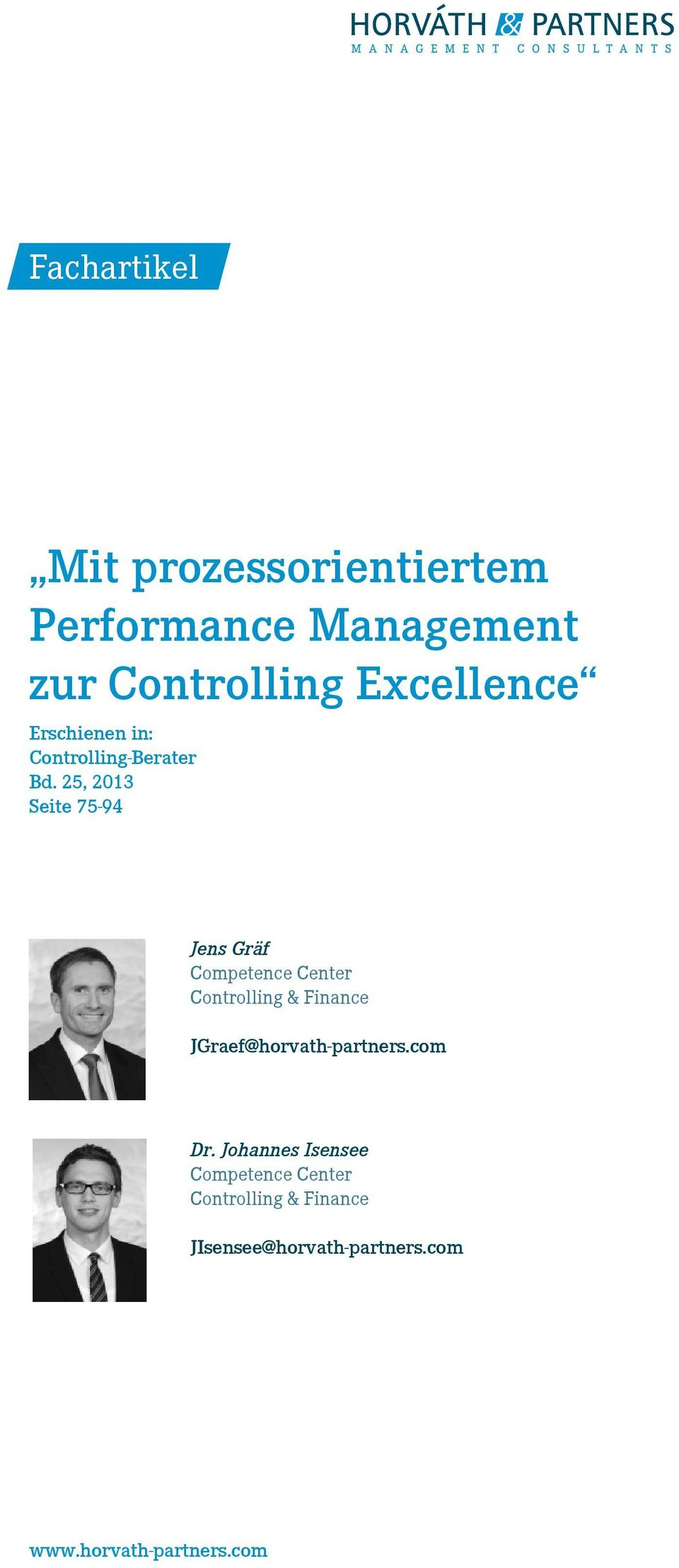 25, 2013 Seite 75-94 Jens Gräf Competence Center Controlling & Finance