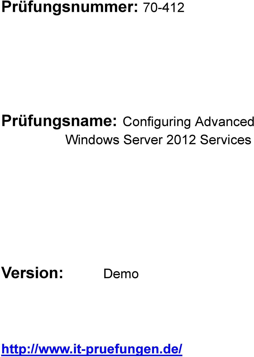 Advanced Windows Server 2012