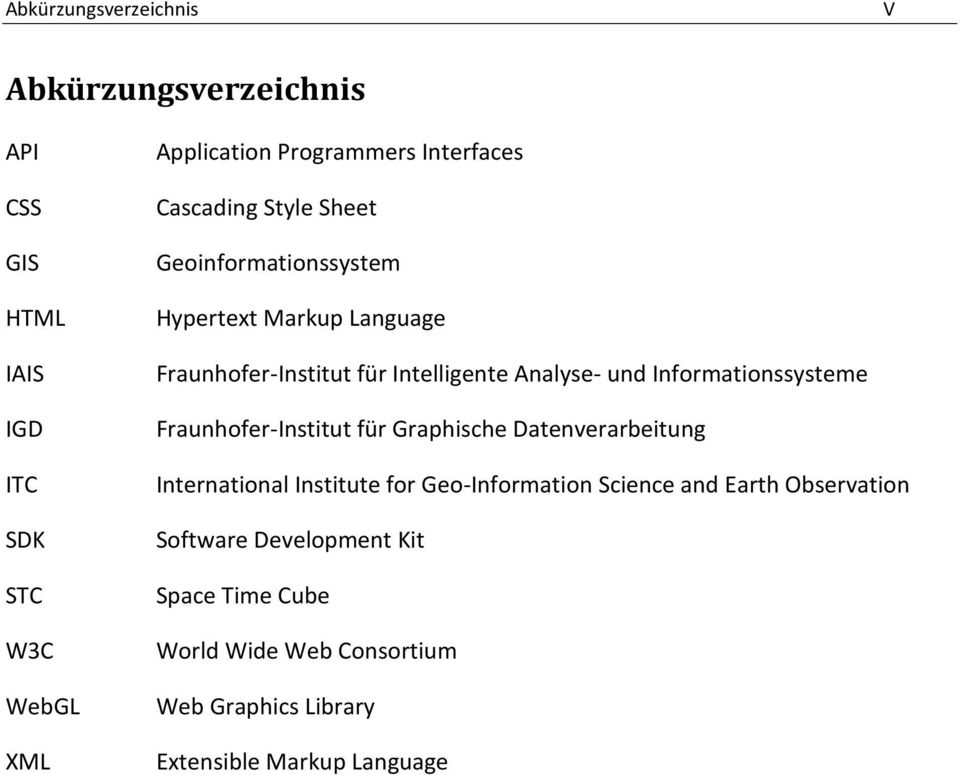 und Informationssysteme Fraunhofer-Institut für Graphische Datenverarbeitung International Institute for Geo-Information Science