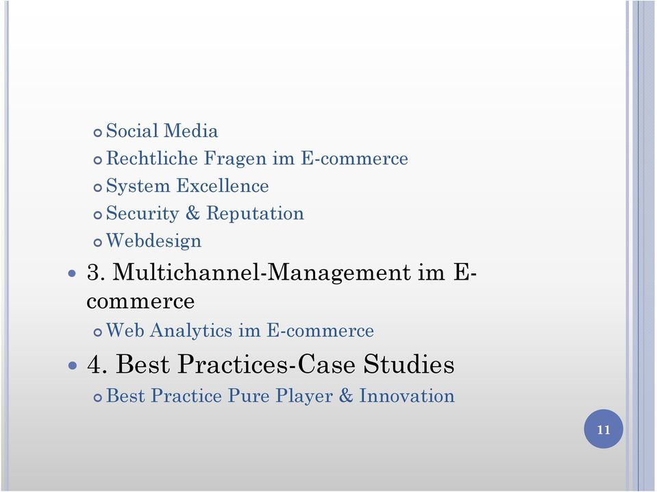 Multichannel-Management im E- commerce Web Analytics im