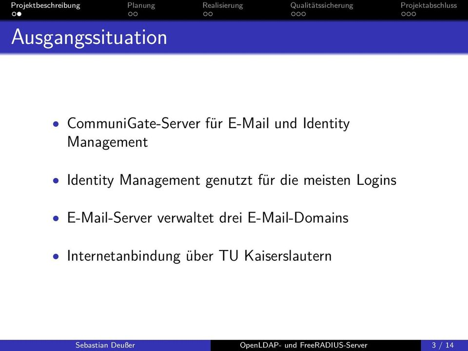 E-Mail-Server verwaltet drei E-Mail-Domains Internetanbindung
