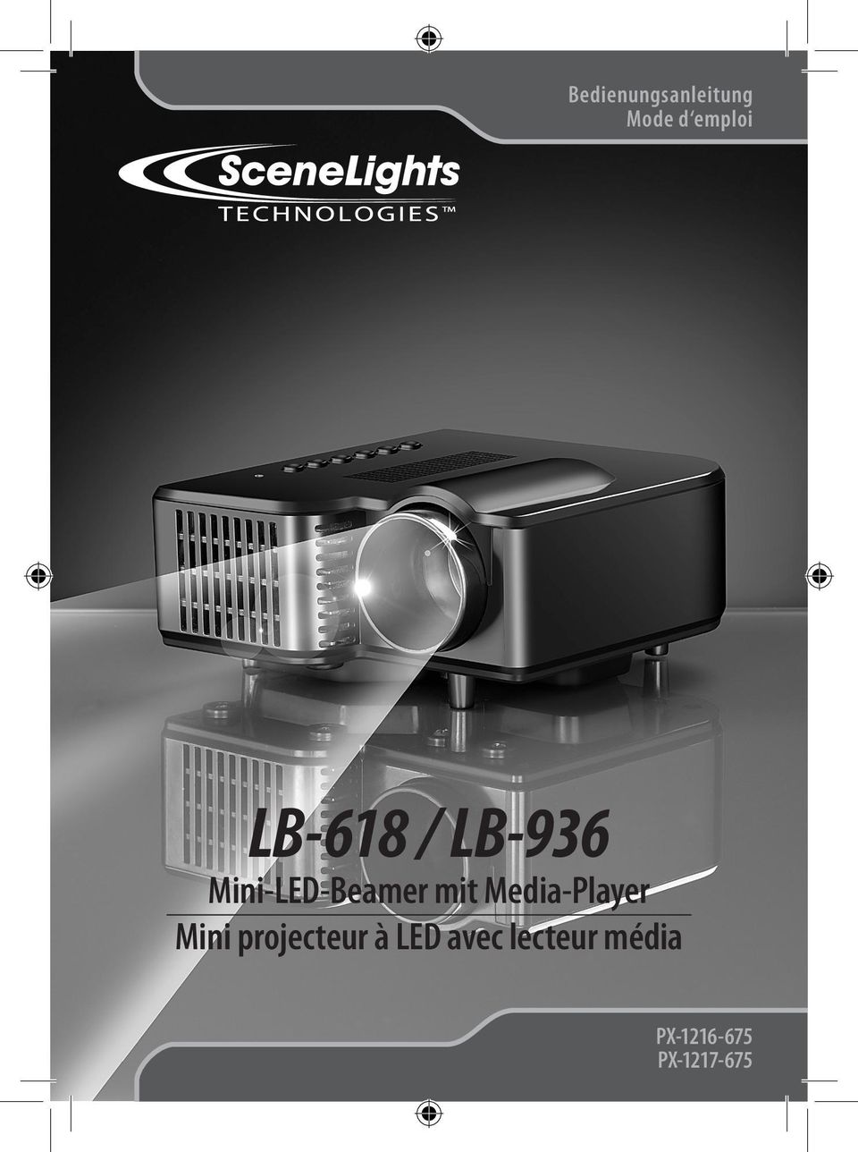 Media-Player Mini projecteur à LED
