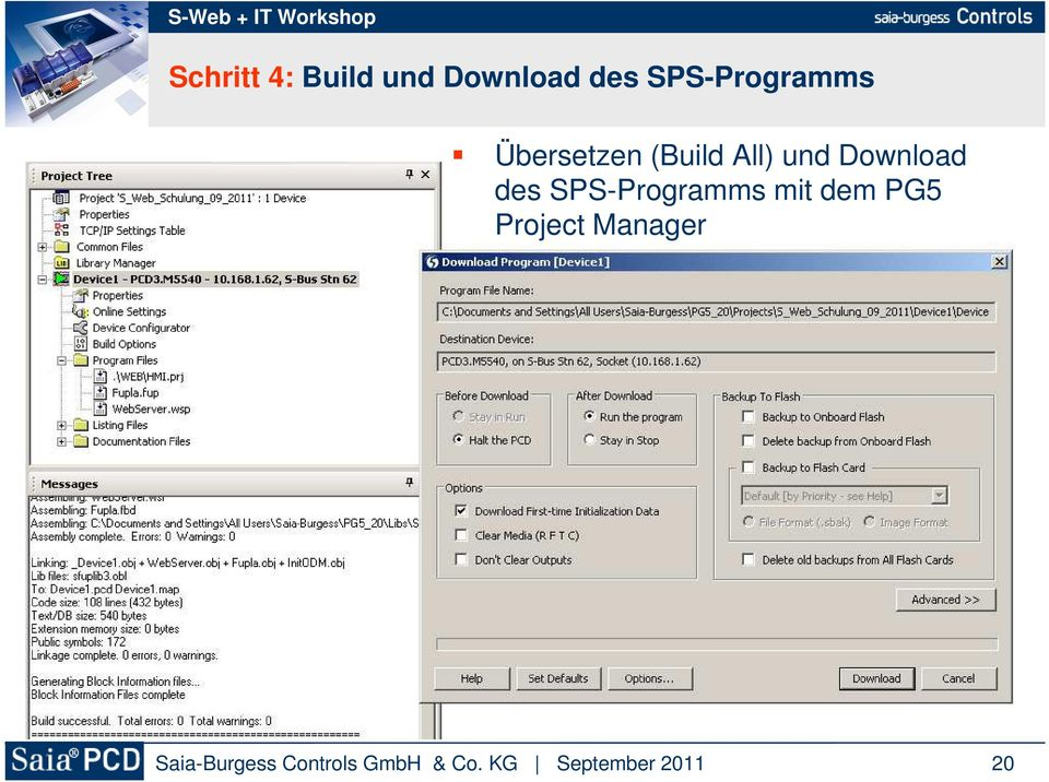 (Build All) und Download des