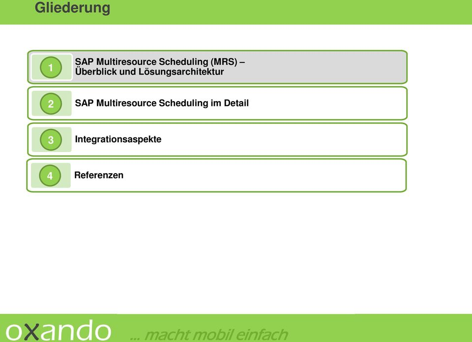 Scheduling im Detail 3 Integrationsaspekte 4