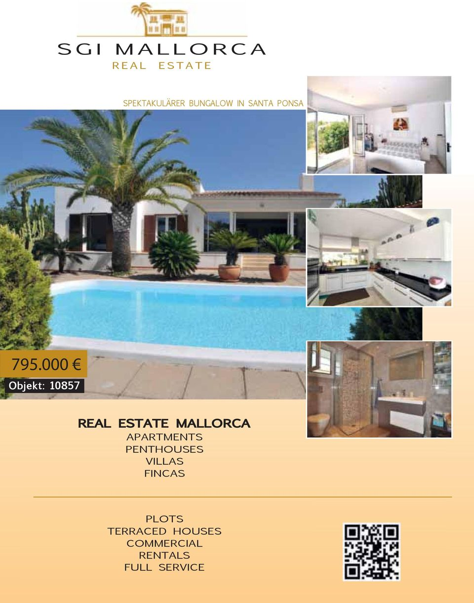 000 Objekt: 10857 REAL ESTATE MALLORCA APARTMENTS