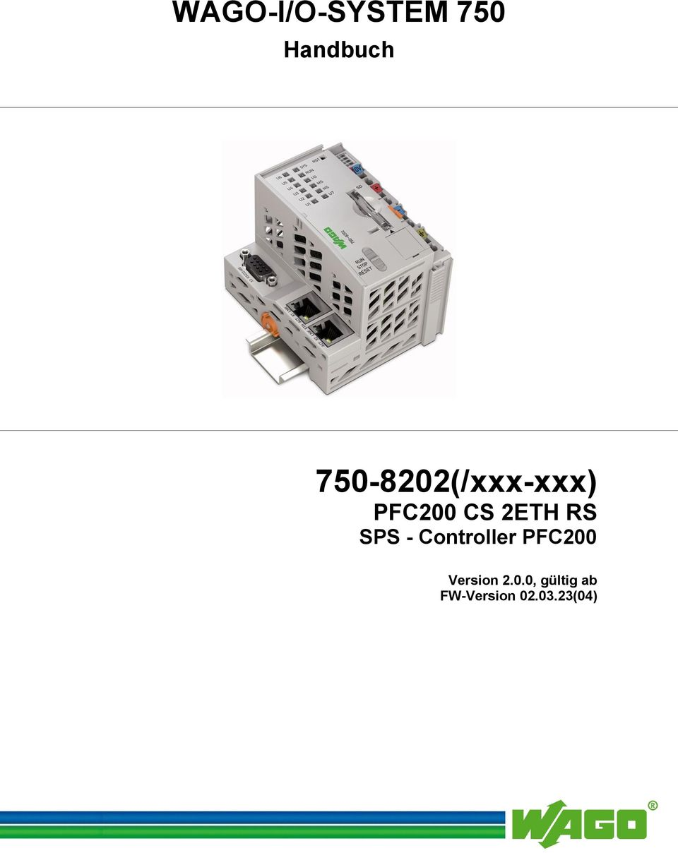 2ETH RS SPS - Controller PFC200