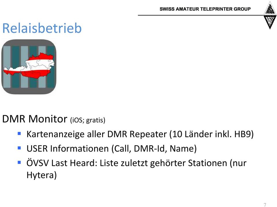 HB9) USER Informationen (Call, DMR-Id, Name) ÖVSV