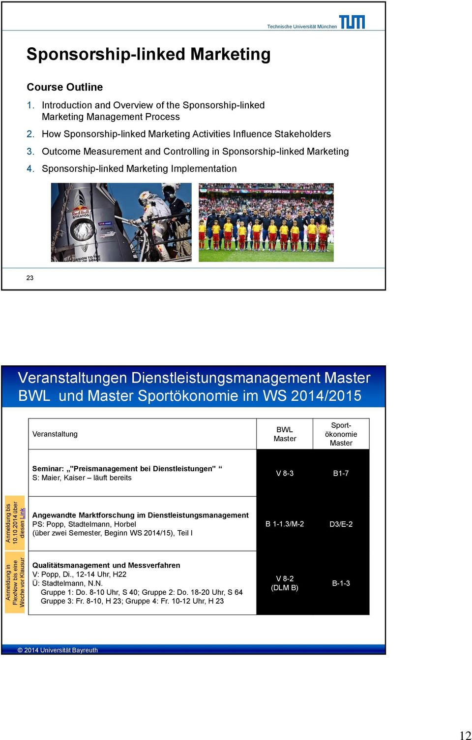 Outcome Measurement and Controlling in Sponsorship-linked Marketing 4.
