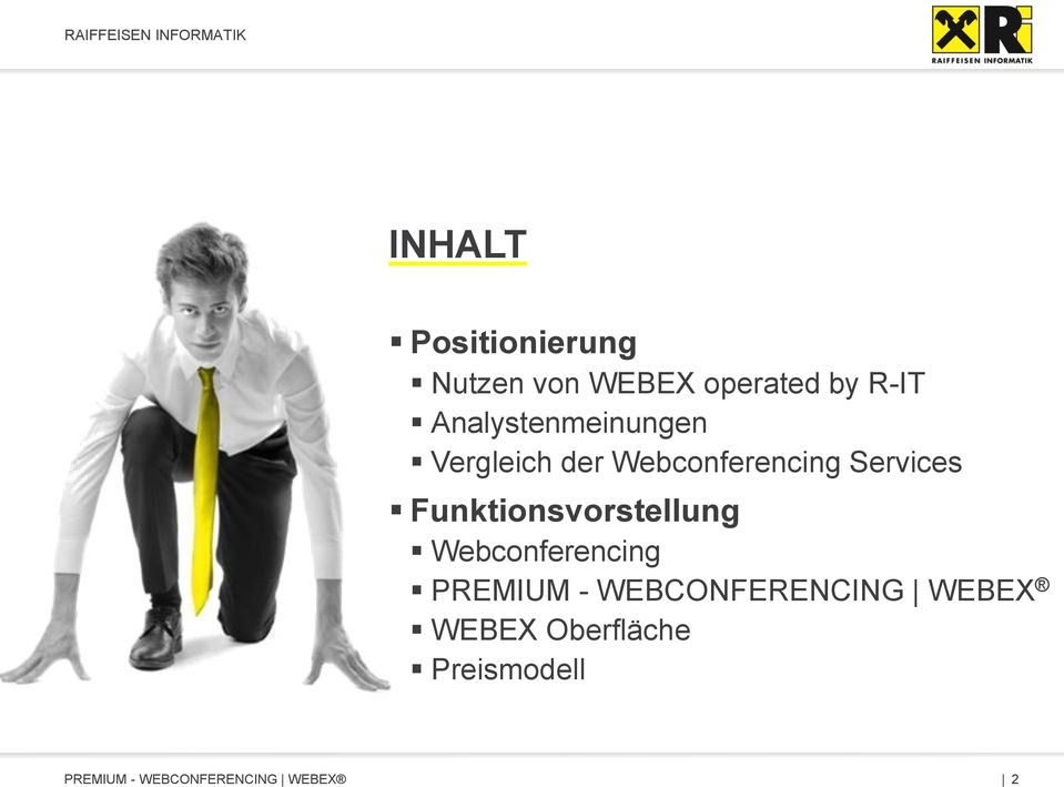 Services Funktionsvorstellung Webconferencing PREMIUM
