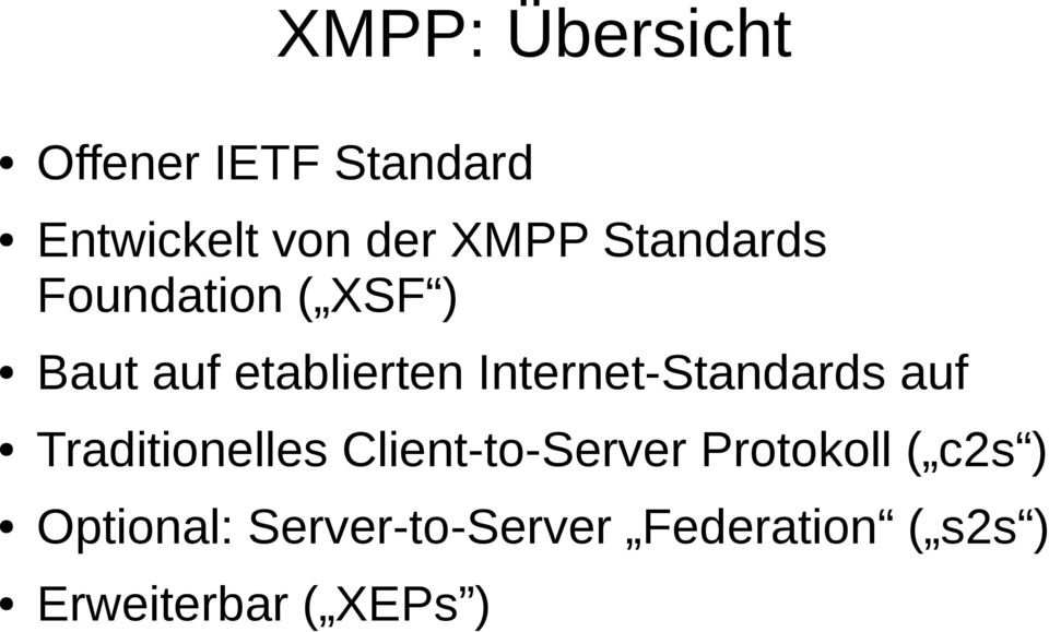 Internet-Standards auf Traditionelles Client-to-Server
