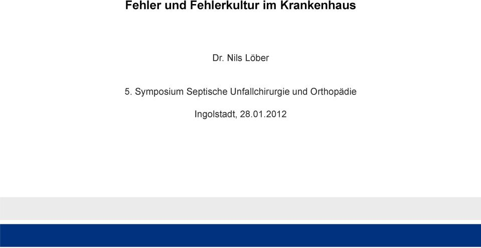 Symposium Septische