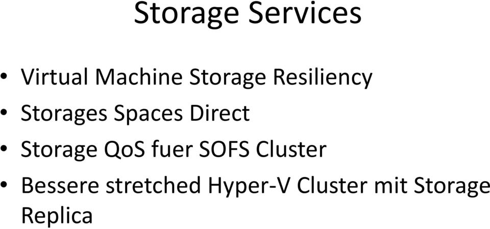 Direct Storage QoS fuer SOFS Cluster