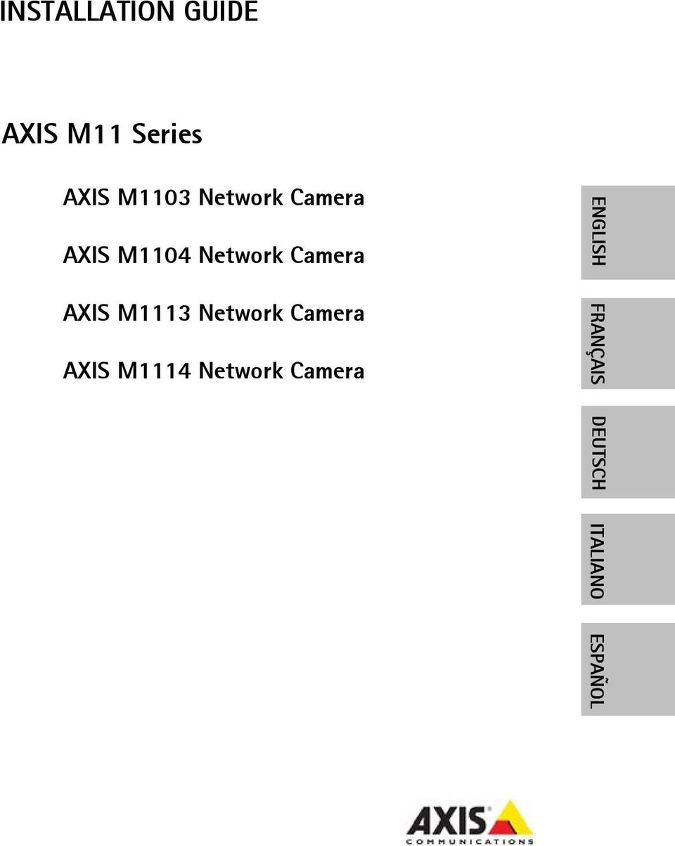Camera AXIS M1113 Network Camera AXIS M1114