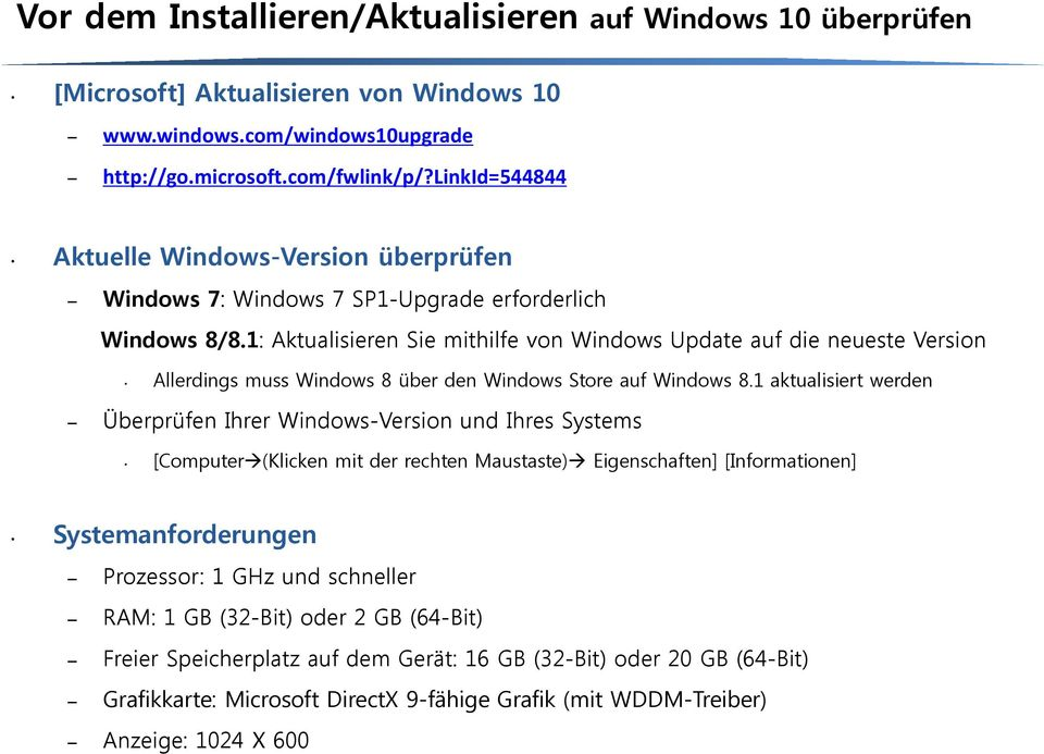1: Aktualisieren Sie mithilfe von Windows Update auf die neueste Version Allerdings muss Windows 8 über den Windows Store auf Windows 8.