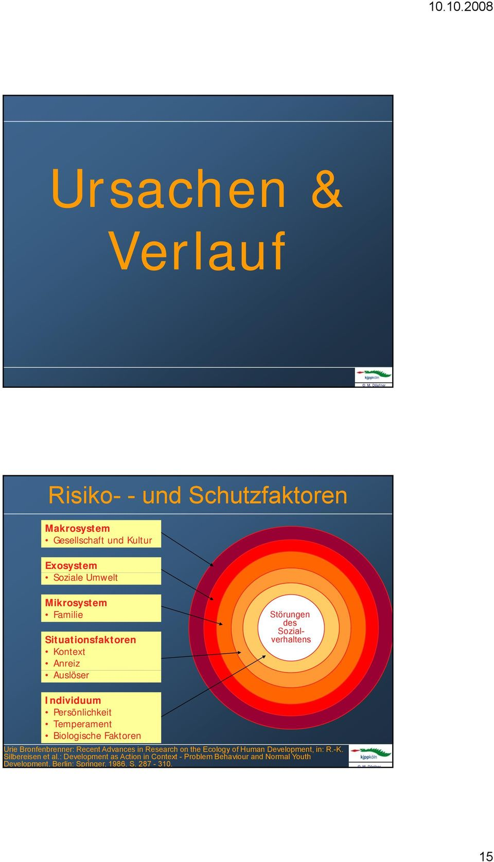 Biologische Faktoren Urie Bronfenbrenner: Recent Advances in Research on the Ecology of Human Development, in: R.-K.