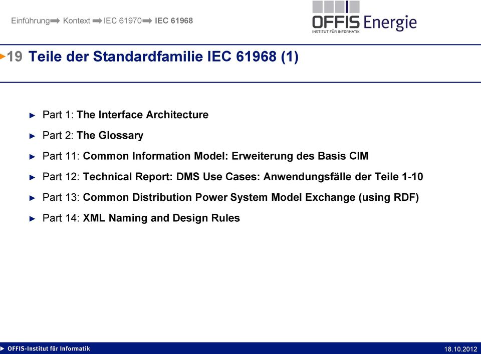 12: Technical Report: DMS Use Cases: Anwendungsfälle der Teile 1-10 Part 13: Common