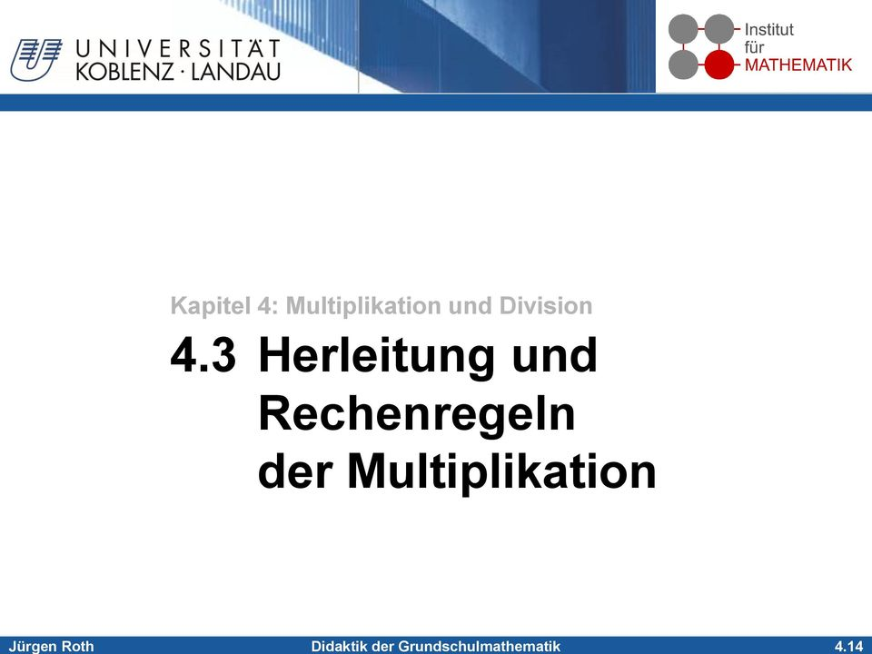 14 Kapitel 4: Multiplikation
