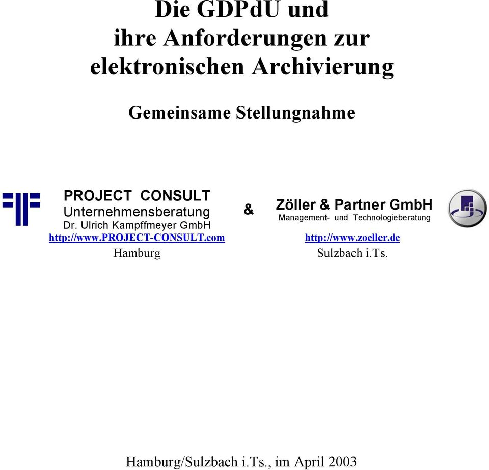 http://www.project-consult.com http://www.