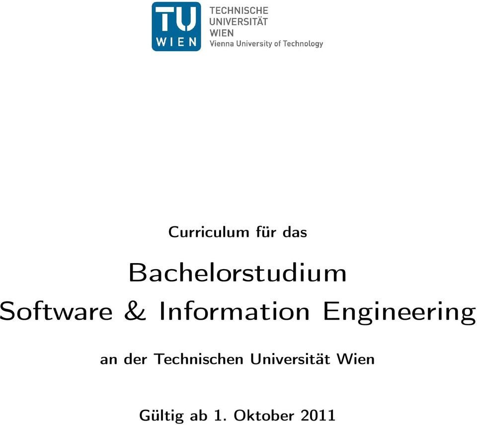 Information Engineering an der