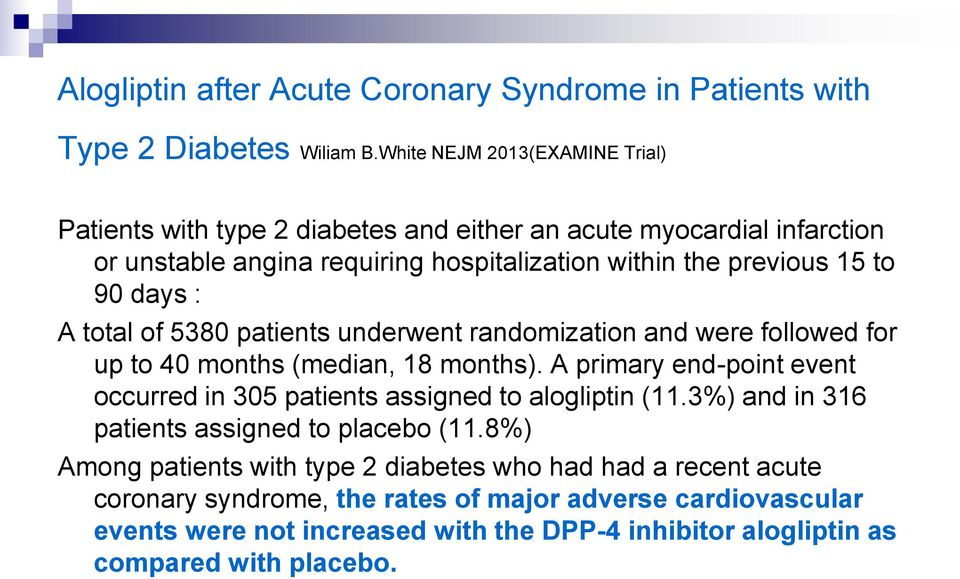 days : A total of 5380 patients underwent randomization and were followed for up to 40 months (median, 18 months).