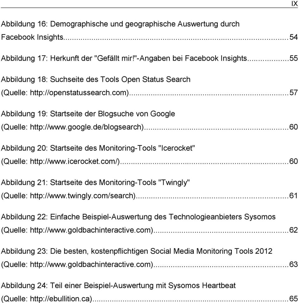 "..60 Abbildung 20: Startseite des Monitoring-Tools ""Icerocket"" (Quelle: http://www.icerocket.com/)...60 Abbildung 21: Startseite des Monitoring-Tools ""Twingly"" (Quelle: http://www.twingly.com/search)."