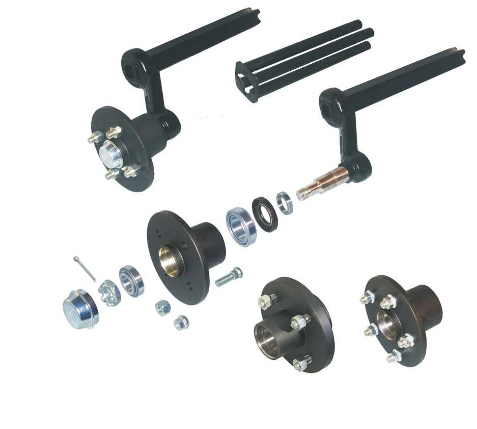 22 2 ERSATZTEILE 1,2,4 5,6 7,8 Rubber spring axles without brakes 29 27,28 26 25 24 9 10 11 12 1 14 15, 12 18,19 21,21 22,2 Designation / Remark complete swing arm, left complete swing arm, right