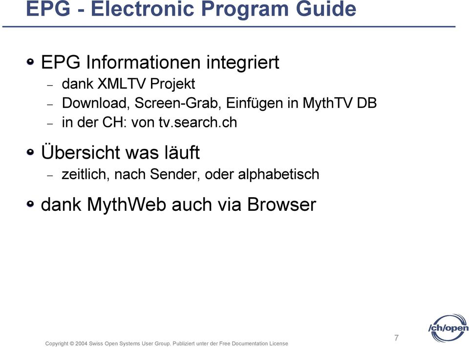 DB in der CH: von tv.search.