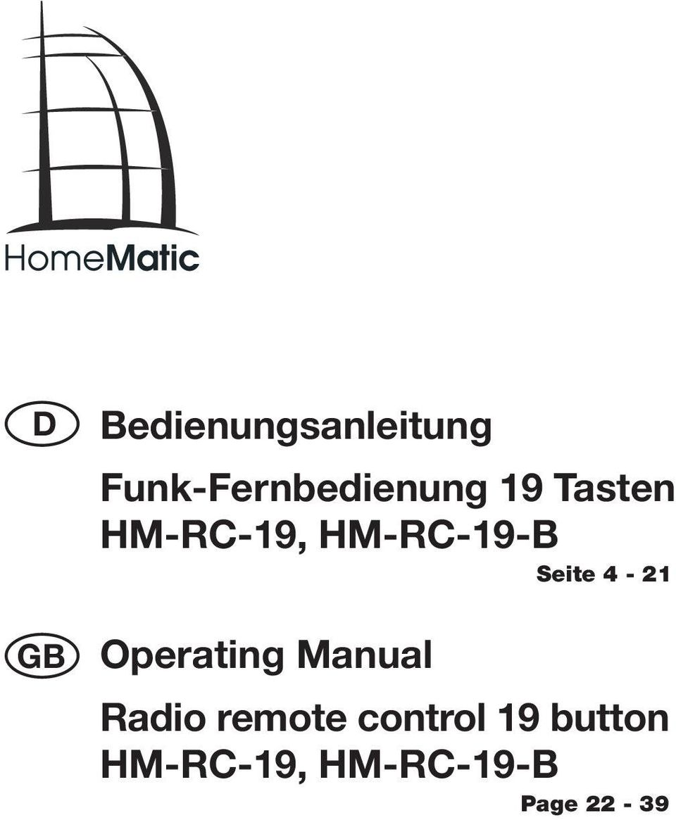 HM-RC-19-B Seite 4-21 Operating Manual