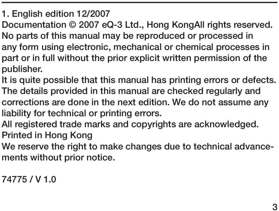 permission of the publisher. It is quite possible that this manual has printing errors or defects.