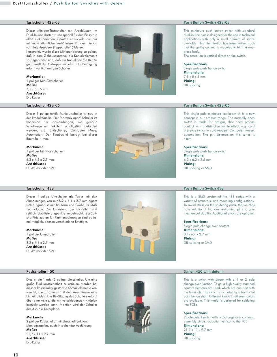 Schalter-Bauelemente Switch Components - PDF