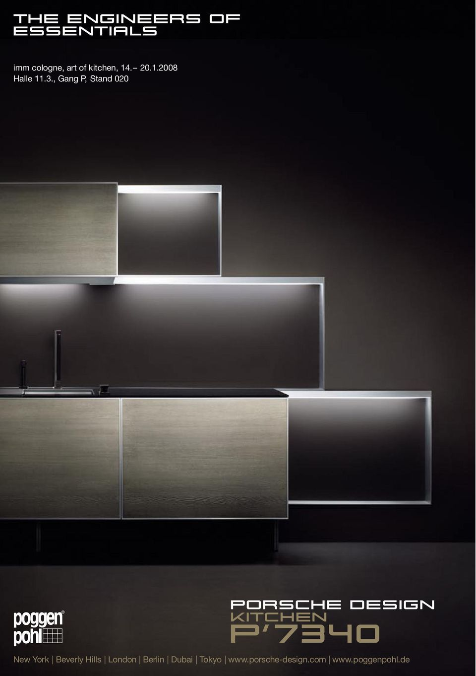 , Gang P, Stand 020 Porsche Design kitchen ß7340 New