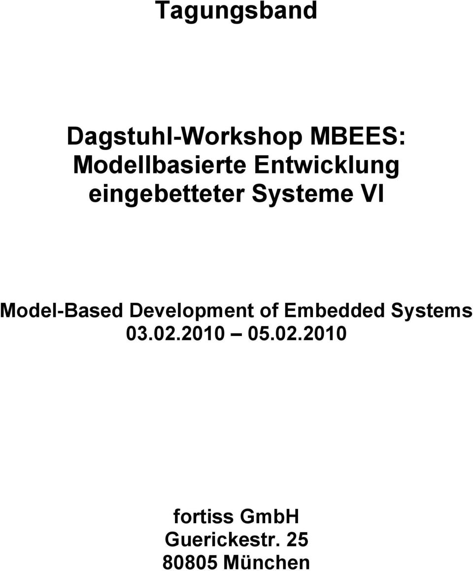 VI Model-Based Development of Embedded Systems 03.