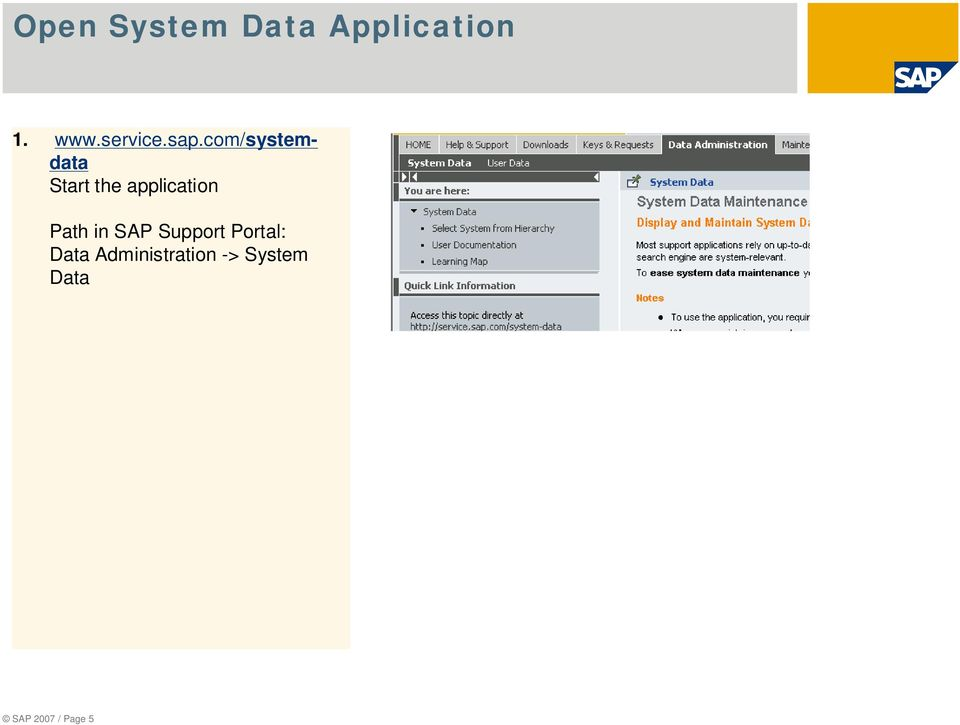 com/systemdata Start the application Path